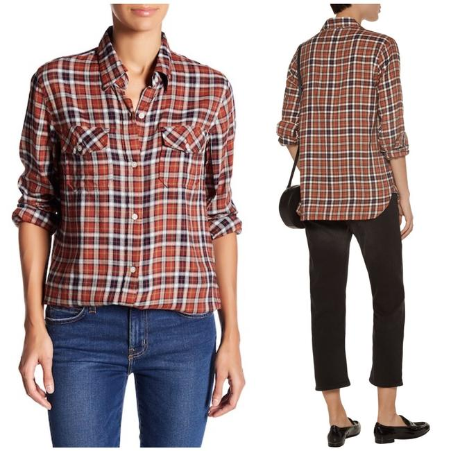 Preload https://img-static.tradesy.com/item/24074930/currentelliott-orange-brown-the-perfect-plaid-shirt-meadow-button-down-top-size-4-s-0-3-650-650.jpg