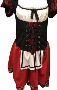 WONDERLAND short dress Black, Red, White Halloween Costume Lederhosen Up on Tradesy