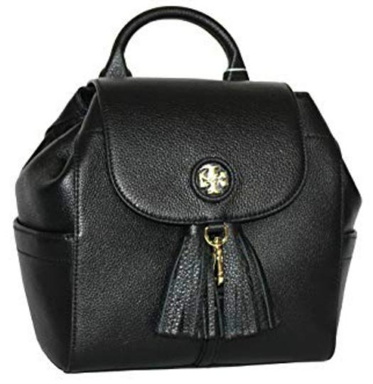 Preload https://img-static.tradesy.com/item/24074963/tory-burch-with-tassels-pebbled-mini-black-leather-backpack-0-2-540-540.jpg