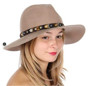 Private Collection Wool embroidered floppy hat