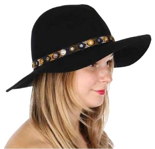 Preload https://img-static.tradesy.com/item/24075040/black-wool-embroidered-floppy-hat-hair-accessory-0-1-540-540.jpg