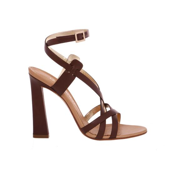 Preload https://img-static.tradesy.com/item/24075049/dsquared2-brown-new-dsq2-genuine-leather-strappy-ankle-wrap-stiletto-dress-high-heels-sandals-size-u-0-0-540-540.jpg