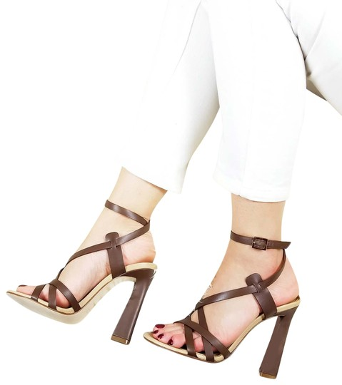 Preload https://img-static.tradesy.com/item/24075068/dsquared2-brown-new-dsq2-genuine-leather-strappy-ankle-wrap-stiletto-dress-high-heels-sandals-size-u-0-1-540-540.jpg