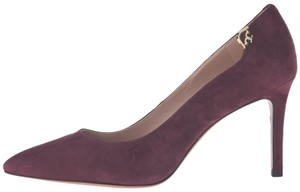 Tory Burch Maroon Suede Wine Red Pumps