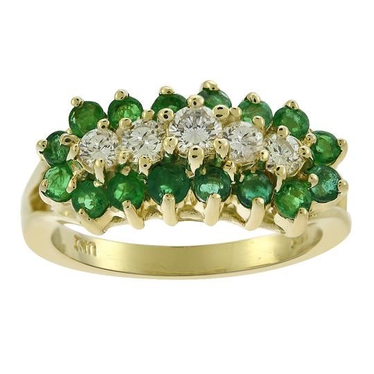Preload https://img-static.tradesy.com/item/24075091/avital-and-co-jewelry-yellow-gold-050-carat-emerald-045-carat-diamond-vintage-14k-ring-0-0-540-540.jpg