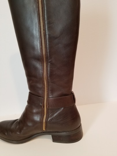 MICHAEL Michael Kors Tall Leather Riding DK Coffee Boots