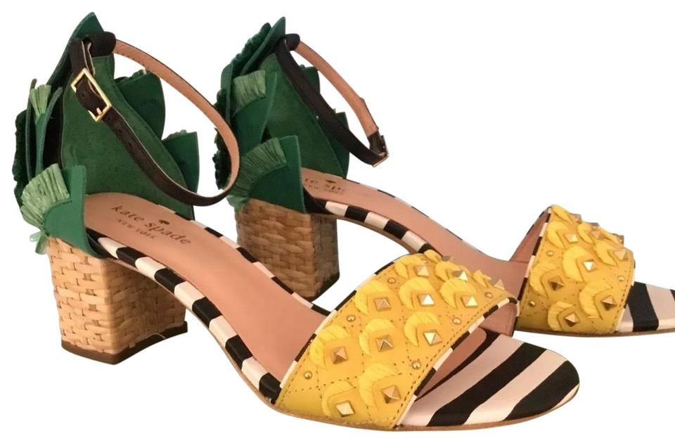 c18f1162b69d Kate Spade Yellow and Green New York Wiatt Sandals Formal Shoes Size ...