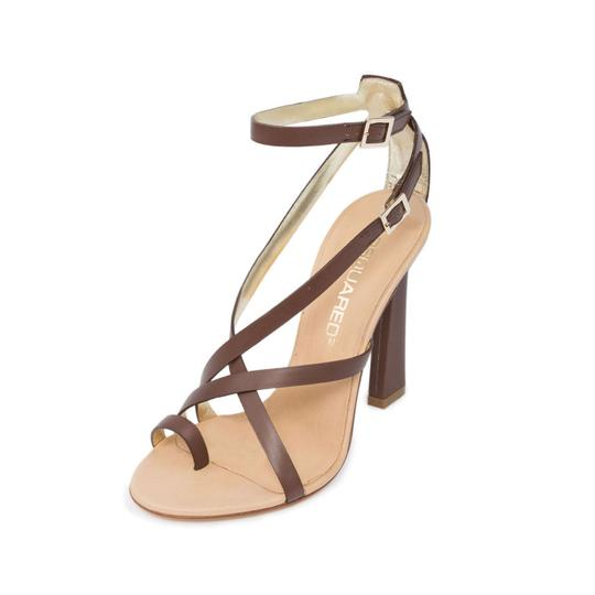 Dsquared2 Italian Slingback Toe-ring Brown Sandals