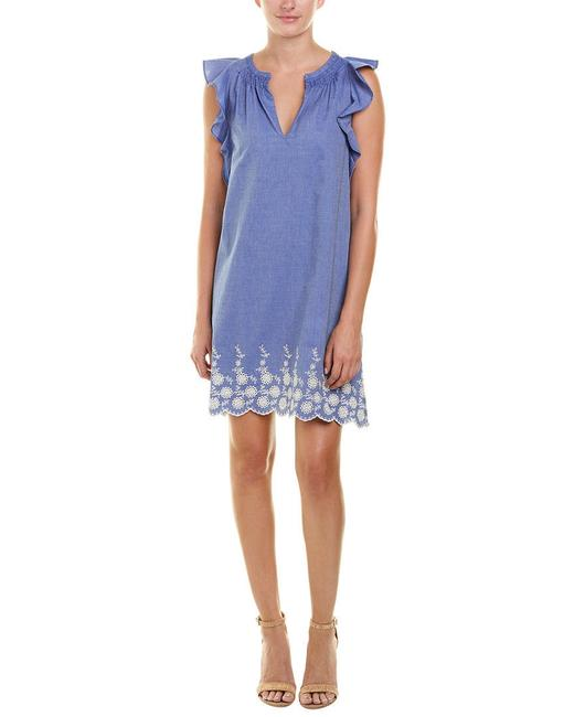 Preload https://img-static.tradesy.com/item/24075150/pappagallo-blue-out-of-the-closet-chambray-mid-length-short-casual-dress-size-12-l-0-0-650-650.jpg