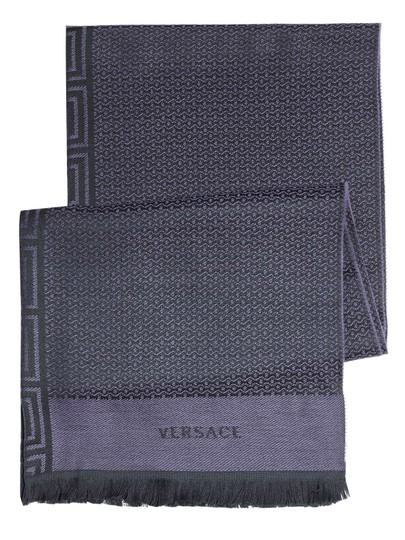 Versace Luxurious Anthracite Scarf NW#54942