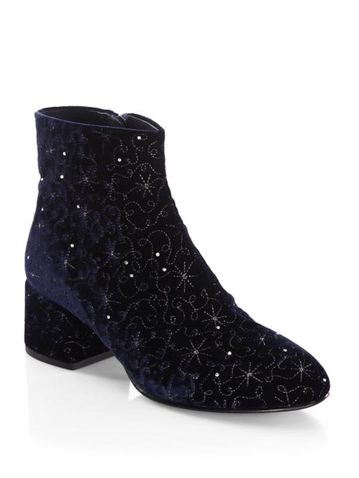 7b66e96f42cba Ash Midnight Diamond Velvet with Dust Bag Boots Booties Size EU 37 ...