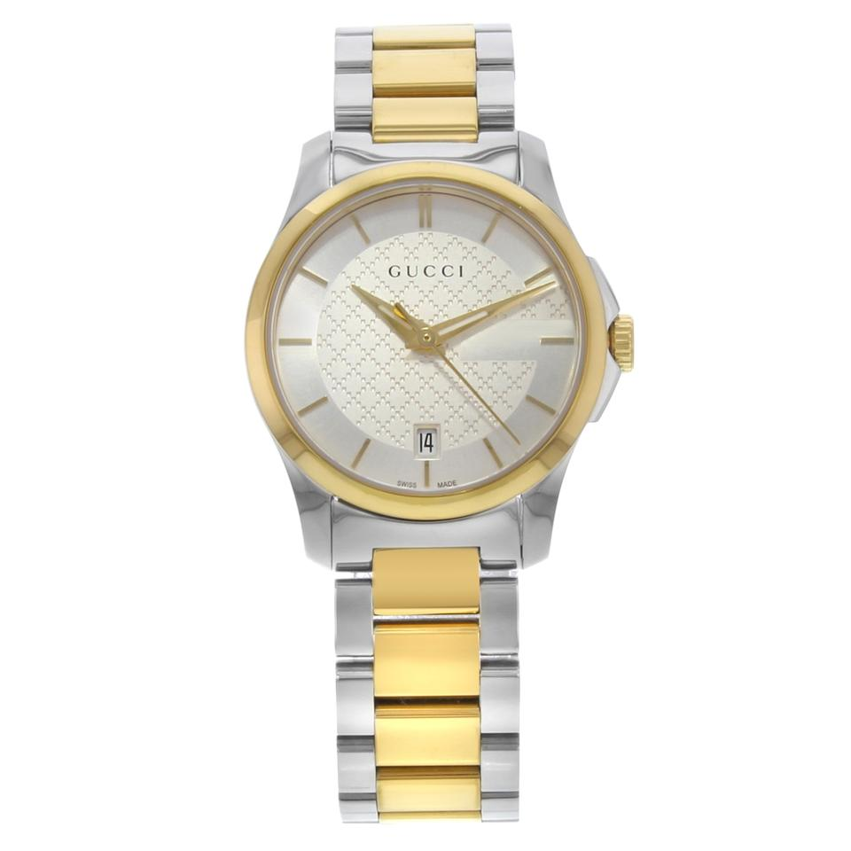 63b8cb88320 Gucci Yellow G-timeless Ya126531 Two Tone Ladies Watch - Tradesy