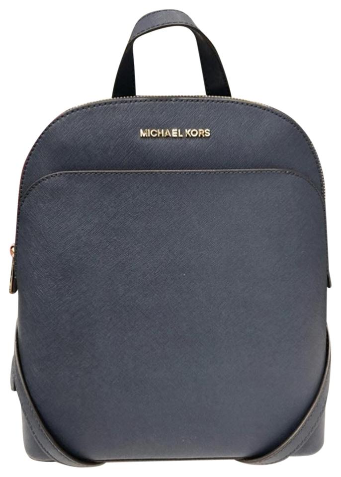 410456e5d5bf Michael Kors Emmy Blue Leather Backpack - Tradesy