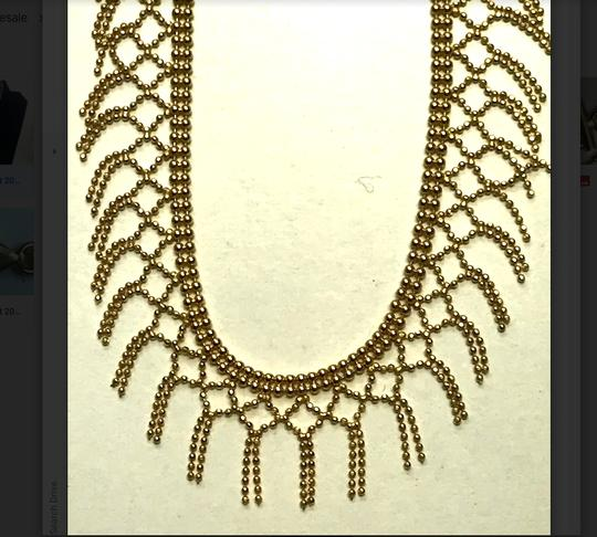 Unbranded Gold Fringe Necklace
