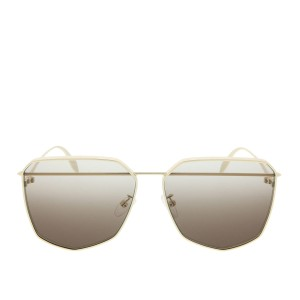 Alexander McQueen NEW Alexander Mcqueen AM 0136S Oversized Pierced Metal Sunglasses