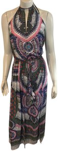 Ramy Brook Summer Cover Up Maxi Dress Cuffed Shorts MULTICOLOR