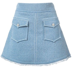 10 Crosby Derek Lam Mini Skirt blue
