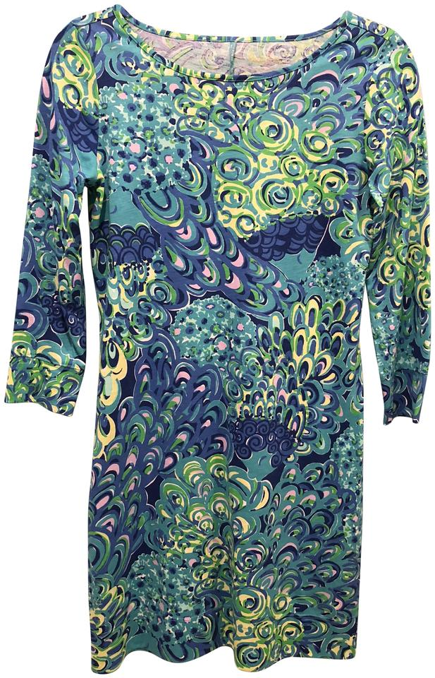 a4c3dca6773660 Lilly Pulitzer Sea Blue Lilly's Lagoon Marlowe Short Casual Dress ...