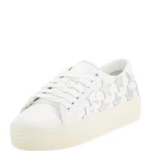 Saint Laurent white with silver stars Athletic