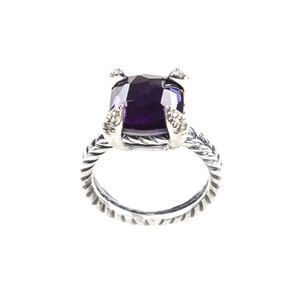 David Yurman Chatelaine Ring with Black Orchid & Diamonds 11mm Sz 7 $800 NWOT