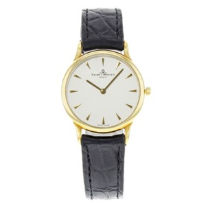 Baume & Mercier Classima 18K Yellow Gold Black Leather Ladies Watch MVO45080