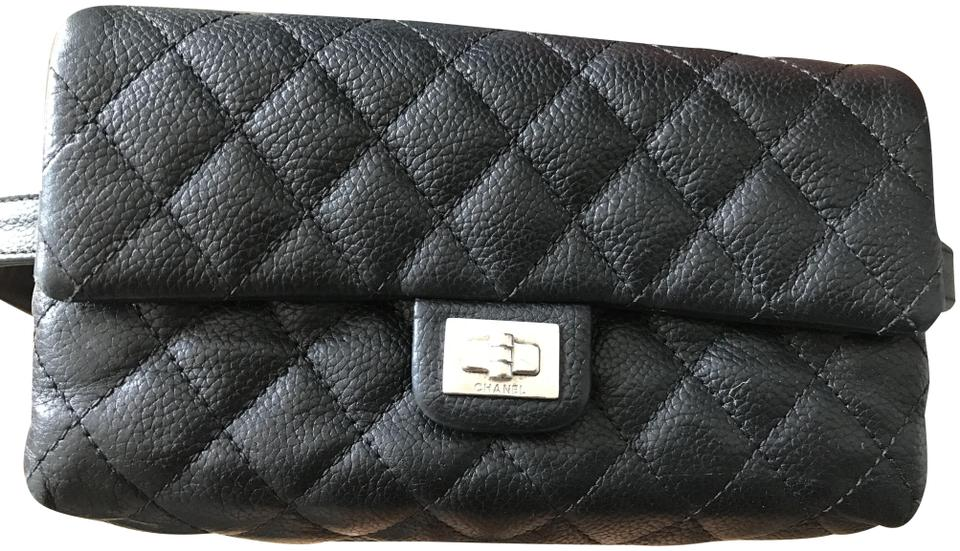 95eb038a185f Chanel Beaute 2.55 Waist Bag. Less Than A Year Old. It Is A Uniform Piece Black  Caviar Leather Baguette