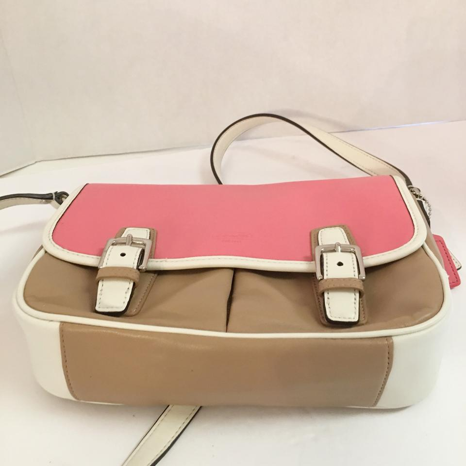 ba2240d538cf Coach Park Color Block F23383 Rose Taupe Leather Cross Body Bag ...