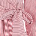Topshop Winter Fall Casual Striped Structured Button Down Shirt Red White Image 3