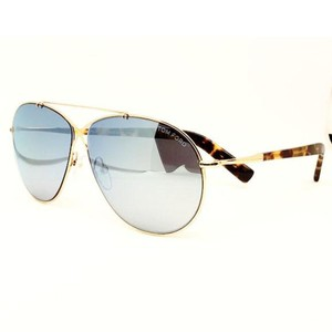 Tom Ford Aviator Unisex Sunglasses Metal Frame with Blue Mirrored Lens