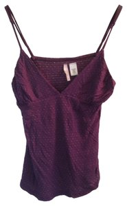 Sparkle & Fade Polka Dot Top Purple