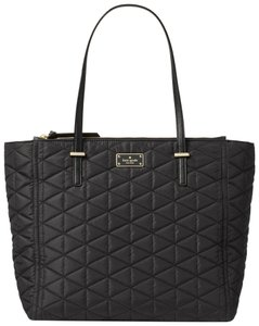 Kate Spade Lightweight Nylon Large Classic Quilted Tote in Black