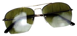 Tom Ford Butterfly Unisex Sunglasses Metal & Plastic Green Anti-Reflective Lens