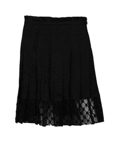Philosophy di Lorenzo Serafini Pleated Star Lace Skirt Black