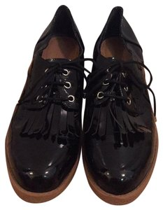 ASOS Asosloafers Patentleathershoes Laceupshoes Casualshoes black Flats
