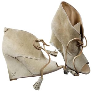 Dsquared2 Suede Wedge Suede Ds2 Beige Boots