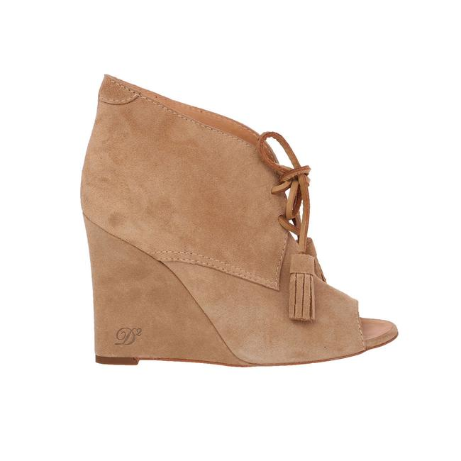 Item - Nude Beige New Dsq2 Suede Leather Peep-toe Wedge Heel Lace-up Boots/Booties Size US 8 Regular (M, B)