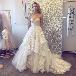 e868a2f24ab Blush by Hayley Paige Ivory Over Cashmere Lace Tulle Lulu Modern Wedding  Dress Size 16 (