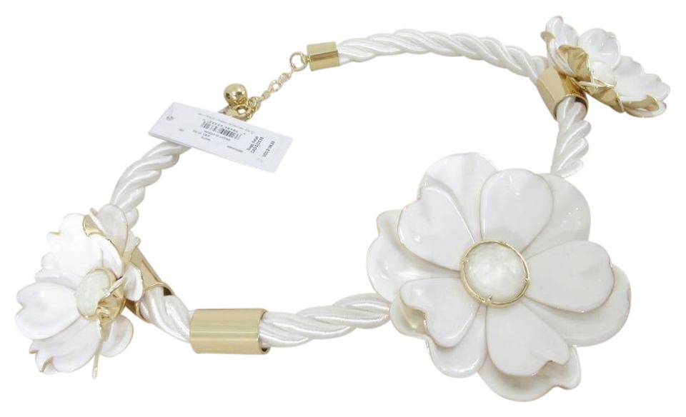Kate spade white new bright blossom flower statement necklace tradesy kate spade kate spade nwt new 198 bright blossom white flower statement necklace mightylinksfo
