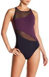 Bleu Rod Beattie Bleu By Rod Beattie Hi Neck Mesh Mio One Piece Swimsuit
