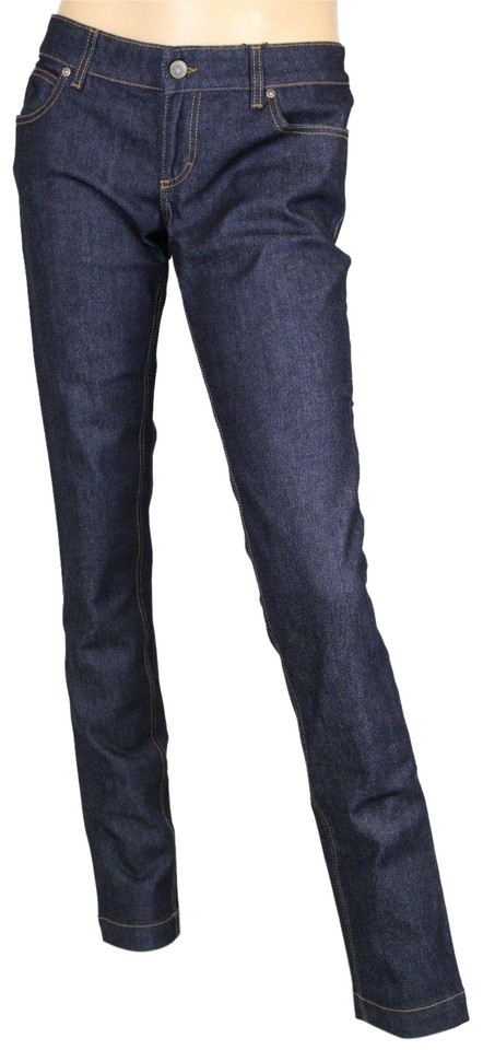 6eadb768a Gucci Dark Blue Women s Denim Legging Pants 40 337614 Xd211 4002 Skinny  Jeans