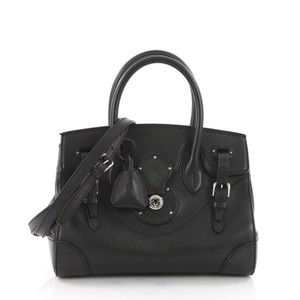 Ralph Lauren Collection Leather Tote in black