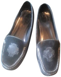 Etienne Aigner Loafers Insole Leather Slip--on-style Made In China Suede/Leather Upper black Flats