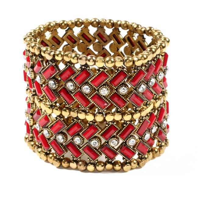 Amrita Singh Ruby and Gold New Moroccan Style Boho Bracelet Amrita Singh Ruby and Gold New Moroccan Style Boho Bracelet Image 1