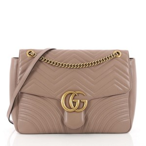 25b16908dacc5b Added to Shopping Bag. Gucci Leather Shoulder Bag. Gucci Marmont Gg Flap  Matelasse Large ...