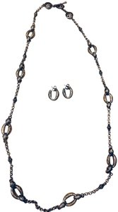 Konstantino Two tone Daphne necklace & earrings