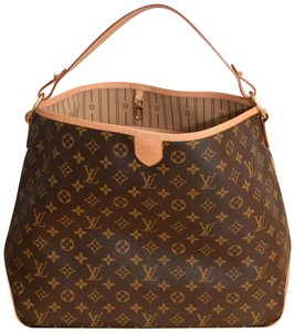 Louis Vuitton Delightful Mm Lv Delightful Mm Tote in Monogram with beige lining