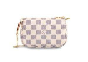 Louis Vuitton Damier Azur Canvas Clutch