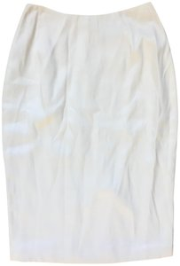 Richard Tyler Pencil Skirt White