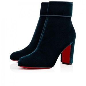 Christian Louboutin Moulamax Stiletto Ankle Blue Boots