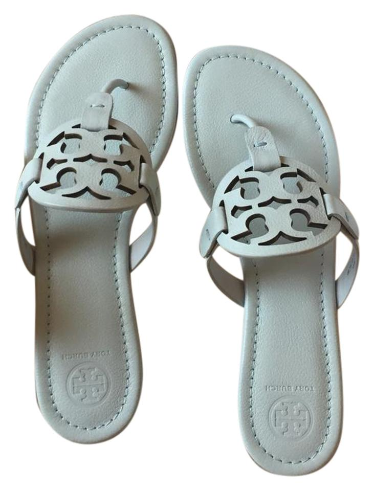 236b67ae5 Tory Burch Seltzer Miller Leather In Seltzer  Light Blue Sandals ...
